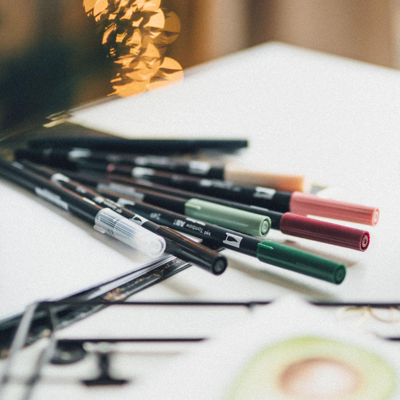 Tombow Brush Pens und Blender im Beginner Bundle Brushlettering