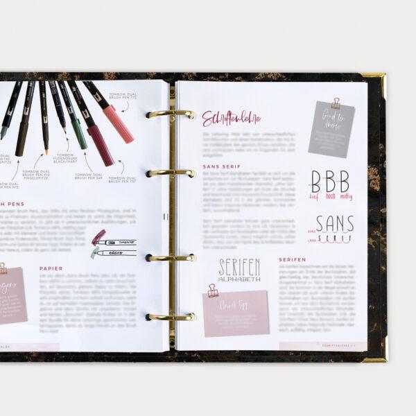 Brushlettering Beginner Bundle Guide mit Grundlagenwissen