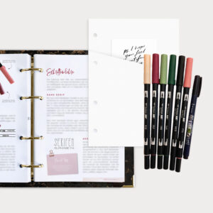 Brushlettering Beginner Bundle mit Guide und Brush Pens