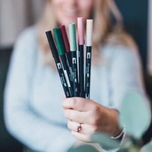 Brushlettering Beginner Bundle Tombow Brush Pens