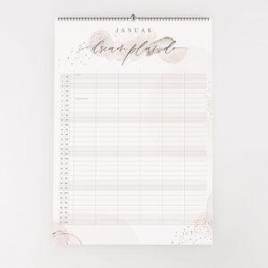 Wandkalender 2021 mit sechs Spalten Januar Kalenderblatt