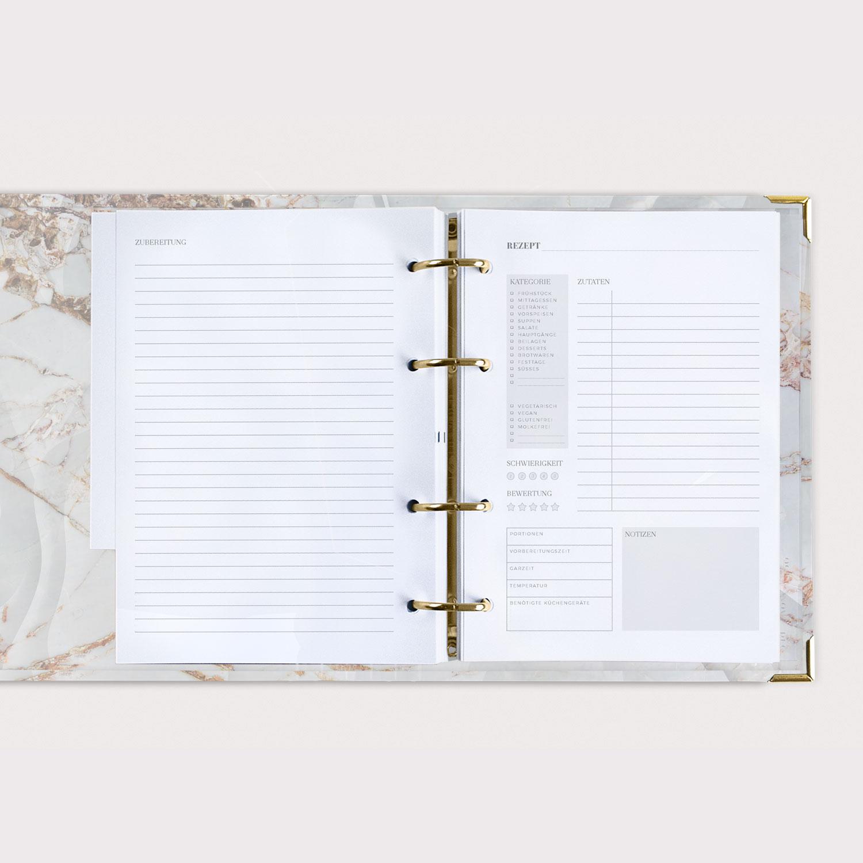 Rezeptbuch White Rezeptkarte und Zubereitung