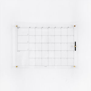 Acrylboard Monatsplaner mit Whiteboard Marker