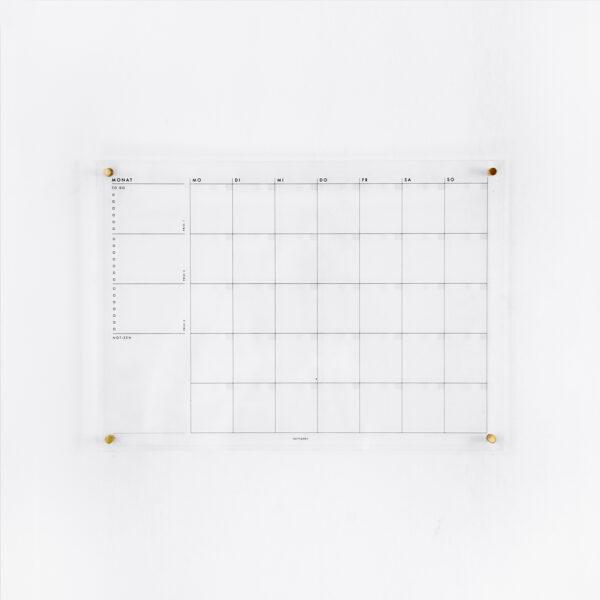 Acrylboard Monatsplaner