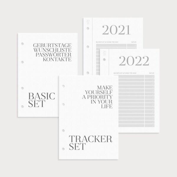 Basics Set bestehend aus Basic Set Tracker Set und Klappkalendern