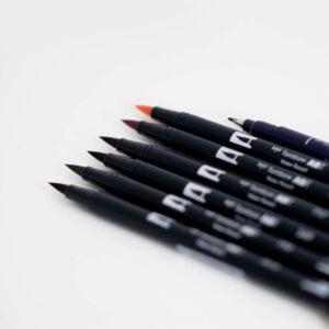 Brushlettering Brush Pen Set einzeln