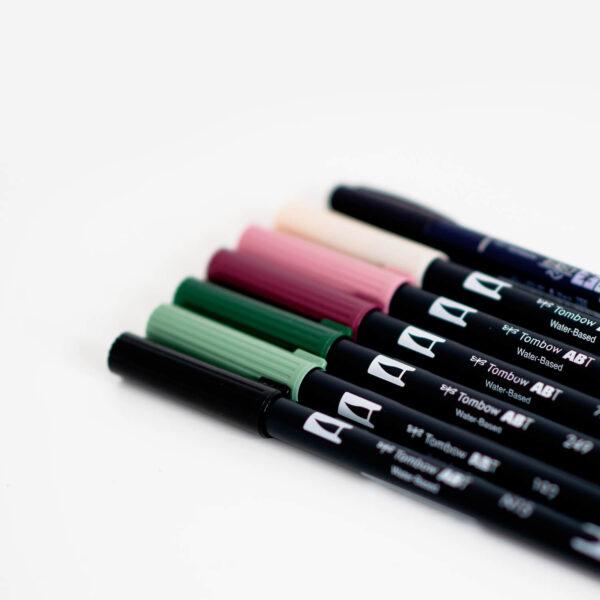 Brushlettering Tombow Brush Pen Set einzeln