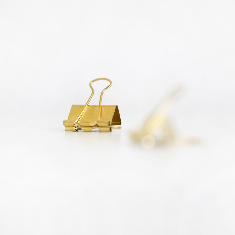 Foldback Klammer Gold