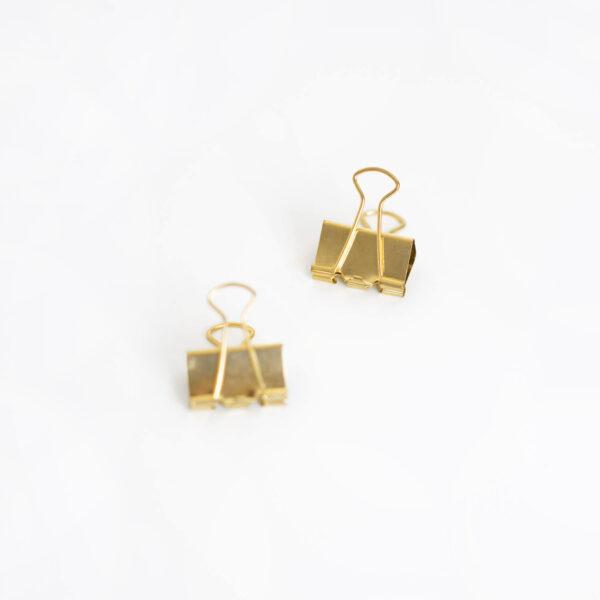 Zwei Foldback Klammern in gold