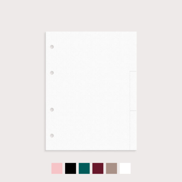 Register blanko 9er Set mit Farbvarianten