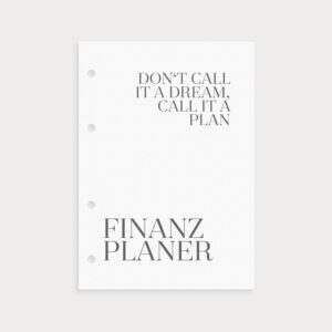 Finanzplaner im Set New Year New Goals