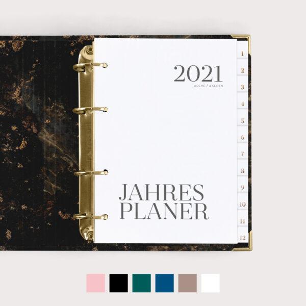 Jahresplaner mit Farbvarianten