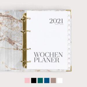 Wochenplaner mit Farbvarianten
