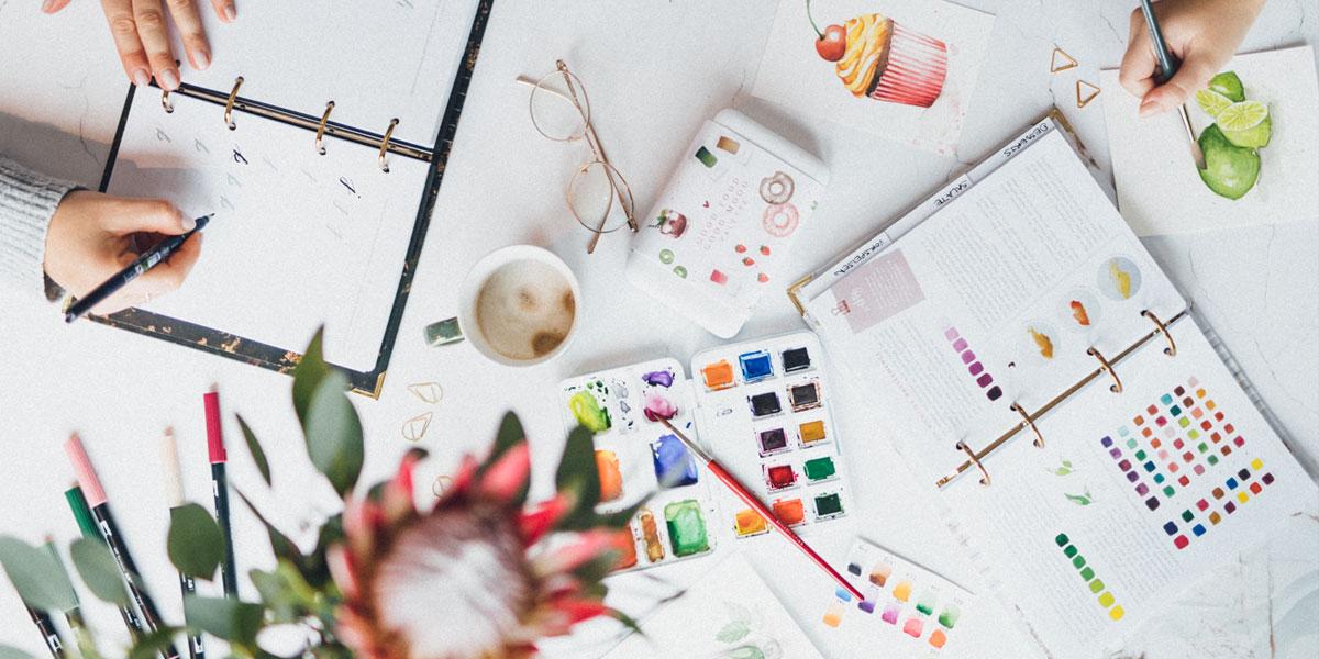 Watercolor Beginner Bundle in Benutzung