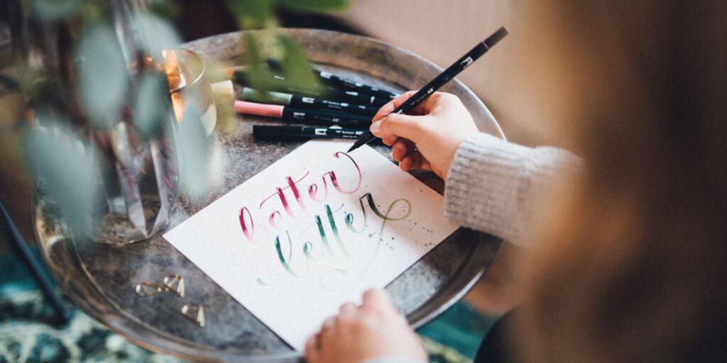 Brushlettering better letter