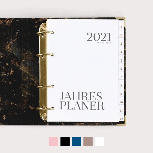 Jahresplaner 2021 mit Farbvarianten