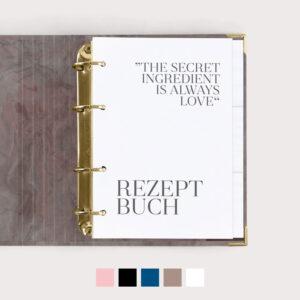 Rezeptbuch mit Farbvarianten
