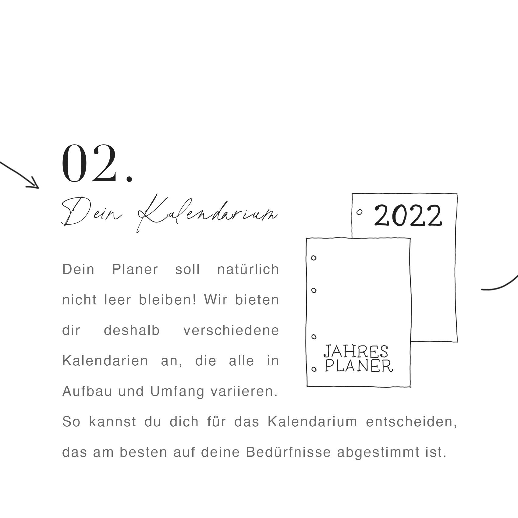 Kalendarium für den Planer