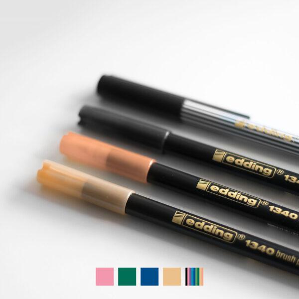 Edding Pinselstifte Set Coverbild mit Farbvarianten