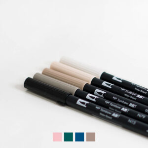 Tombow Brush Pen Set Nude Coverbild mit Farbvarianten