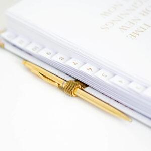 Stiftschlaufe gold im Golden Accessoires Set