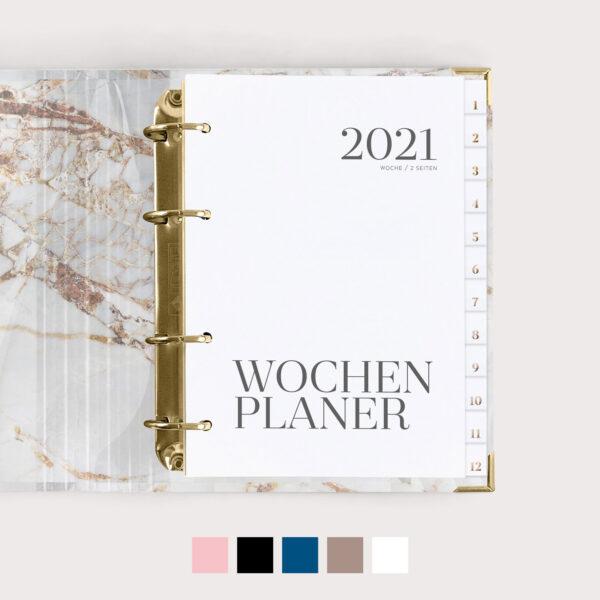 Wochenplaner 2021 mit Farbvarianten
