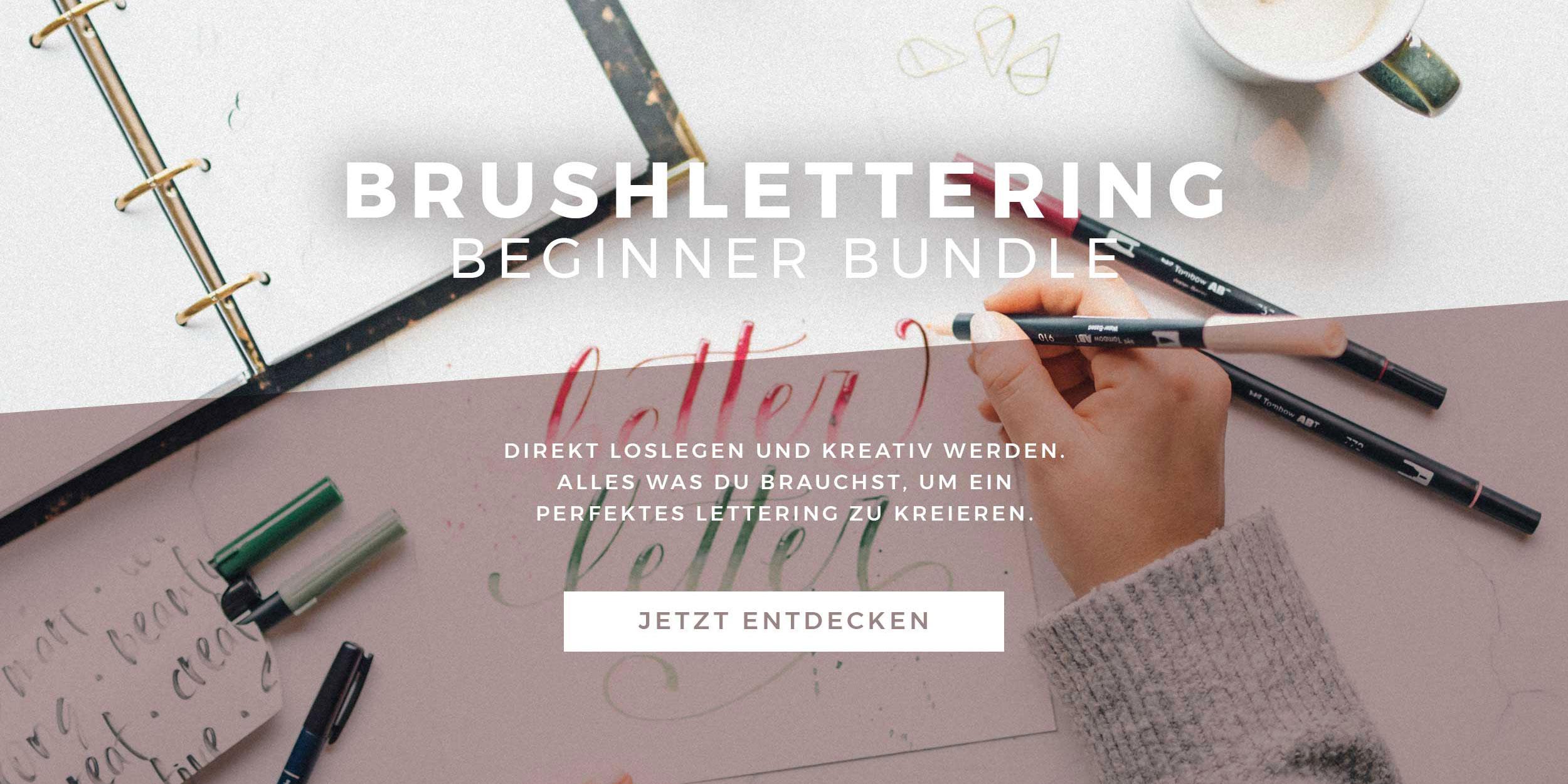 Brushlettering Beginner Bundle Slider mit Button