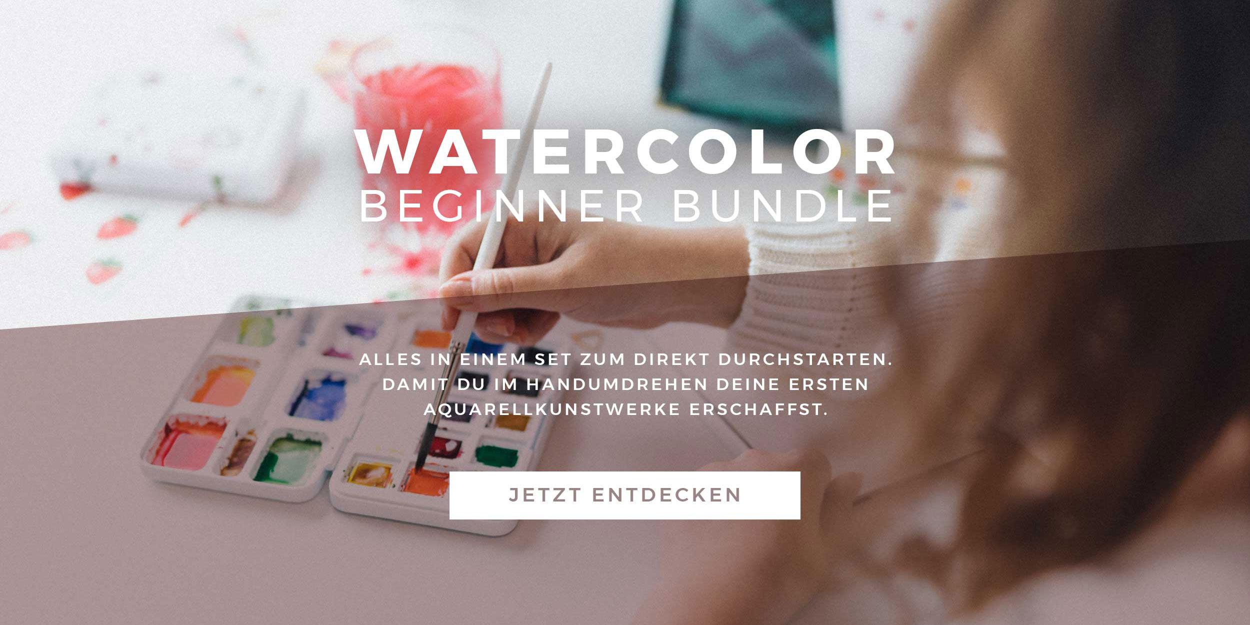 Watercolor Beginner Bundle Slider mit Button