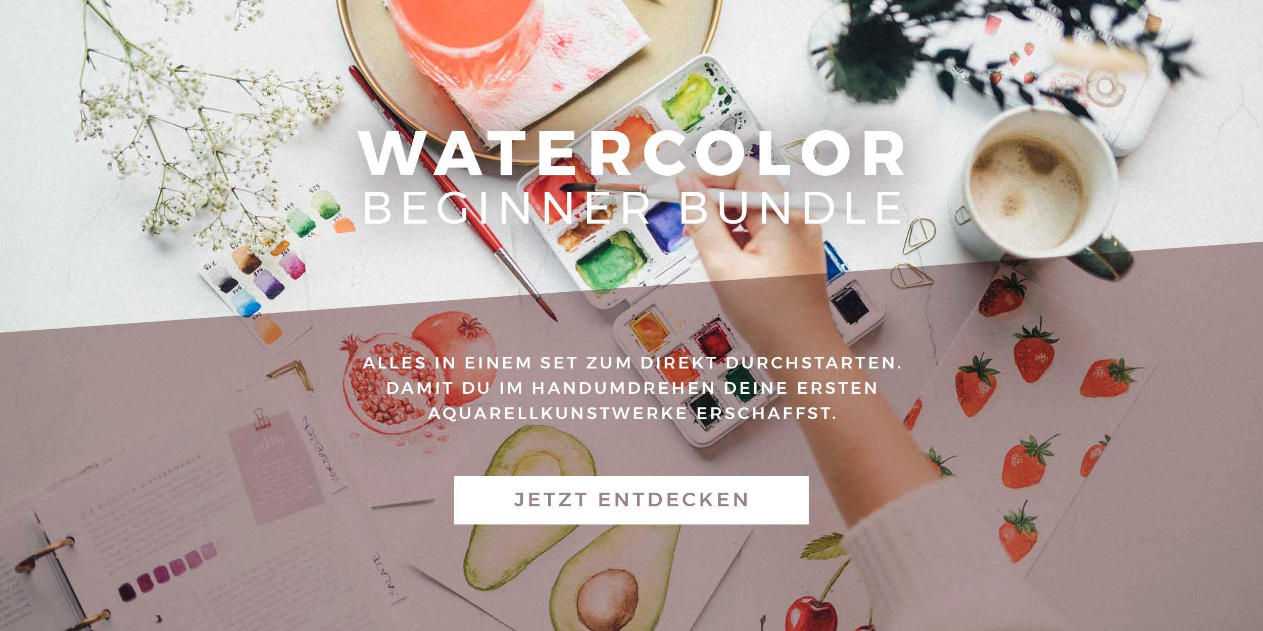 Watercolor Beginner Bundle Slider
