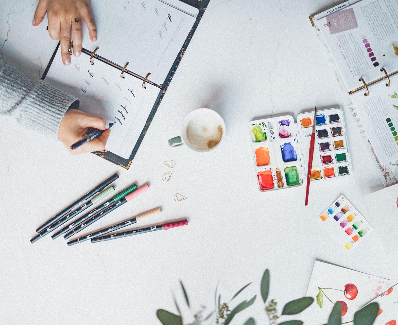 Brushlettering und Watercolor für mehr Kreativität