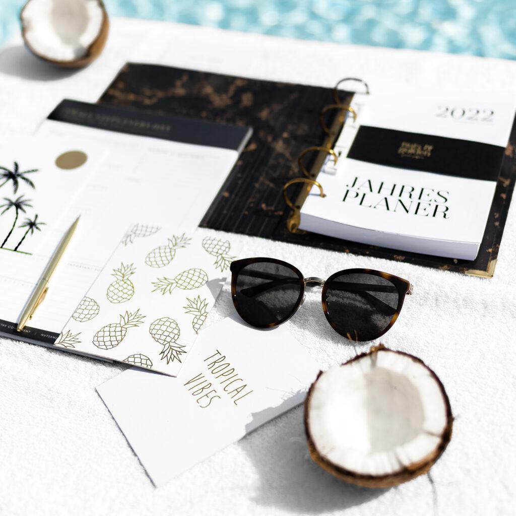 DIY Postkarten im sommerlichen und tropischen Design