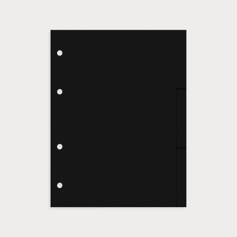 Register 9er Set blanko schwarz