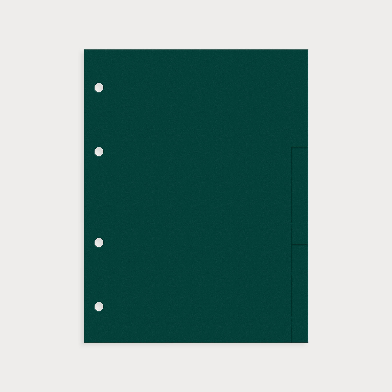 Register 9er Set blanko emerald