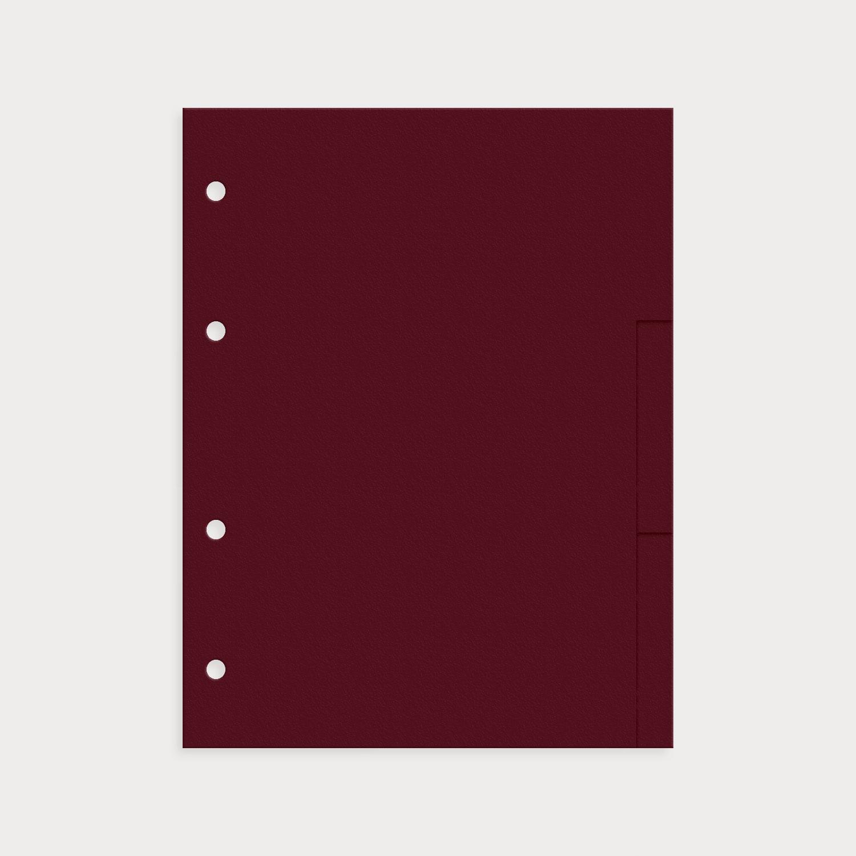 Register 9er Set blanko burgund